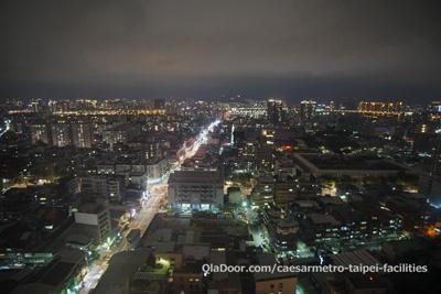 シーザーメトロ台北ホテルからの夜景
