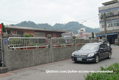瑞芳駅から十分行きのUberタクシー