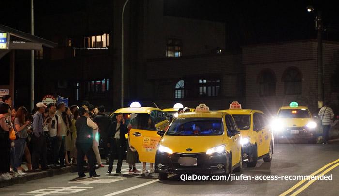 台湾・九份の帰りのタクシー乗り場