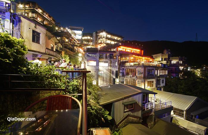 台湾・九份の夜景撮影写真