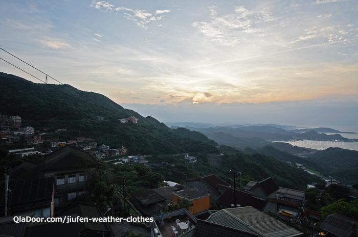 台湾・九份の日没と日の入りの撮影