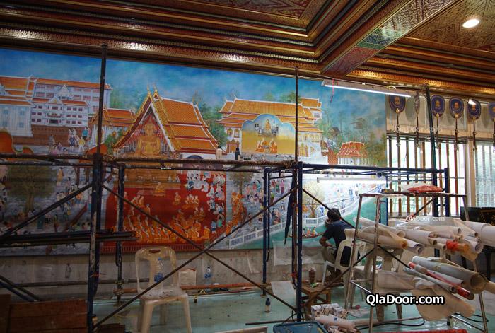 ワットパクナム博物館の壁画