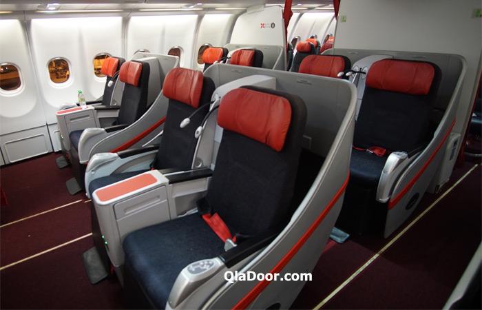 エアアジアX・ハワイのビジネスクラスの往復座席