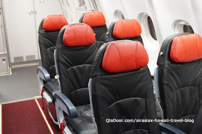 エアアジアX・ハワイの座席・ツインシート