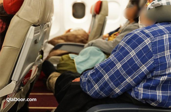 エアアジア機内での過ごし方