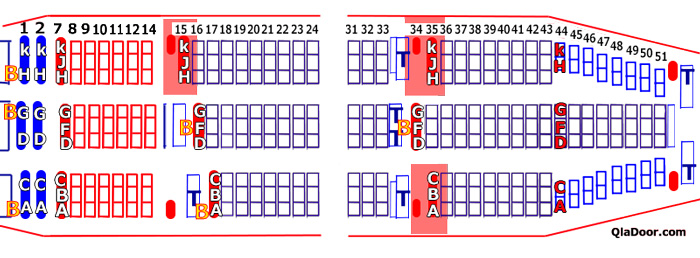 エアアジアX・ハワイのおすすめの座席・非常口のホットシート