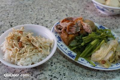 孤独のグルメ台湾・永樂担仔麺の鶏肉飯弁当