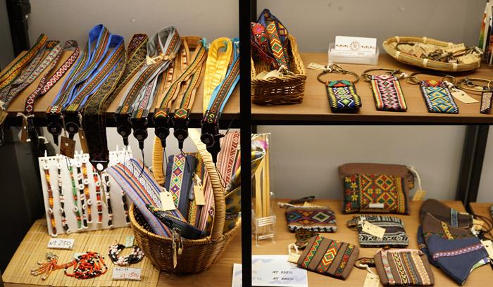迪化街の台湾原住民の手作り雑貨やアクセサリー