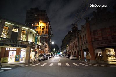 迪化街の夜の夜景・ライトアップ