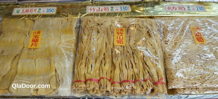 台湾・迪化街で売っているメンマ