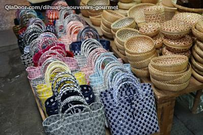 台湾・迪化街の人気お土産・竹で作られたカバン
