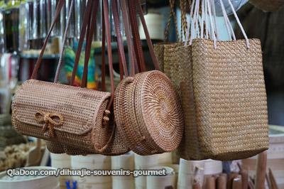 迪化街の人気お土産・竹のカゴバック