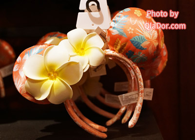 ハワイ・アウラニディズニープルメリアのカチューシャ