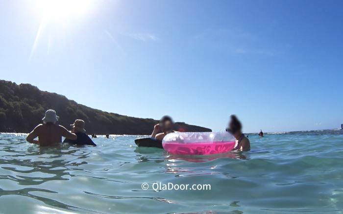 ハワイ旅行・ハナウマ湾の持ち物チューブ・浮き輪