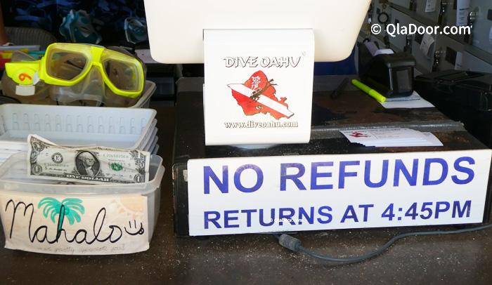 ハナウマ湾でシュノーケルやロッカーレンタルの返却時間