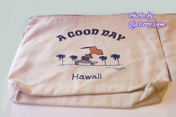 ハワイの日焼けスヌーピーのスモールポーチ