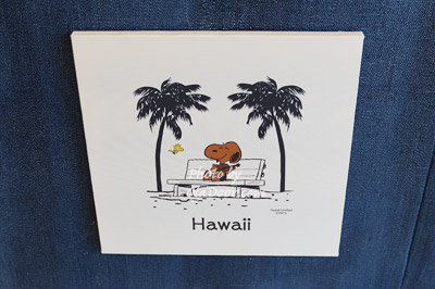ハワイ日焼けスヌーピーのキャンバス