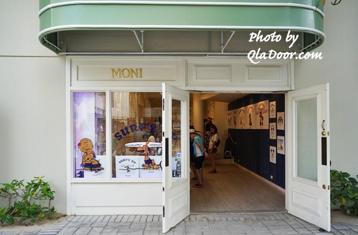 ハワイの日焼けスヌーピー・モニホノルルのワイキキ店