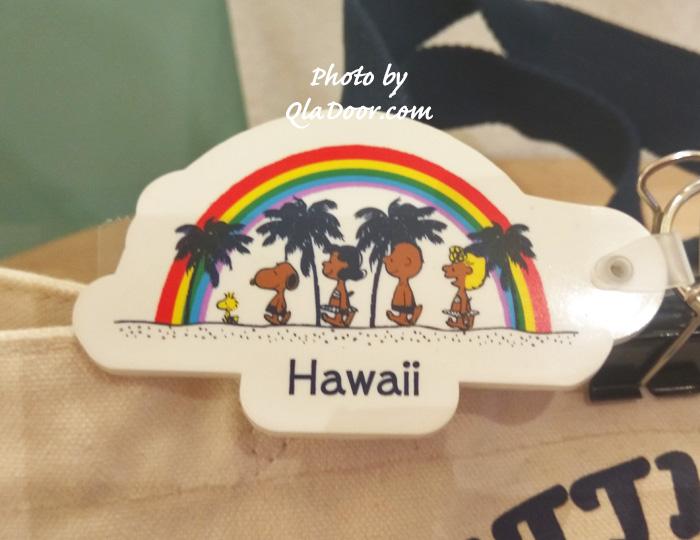 ハワイの日焼けスヌーピー・モニホノルルのキーホルダー