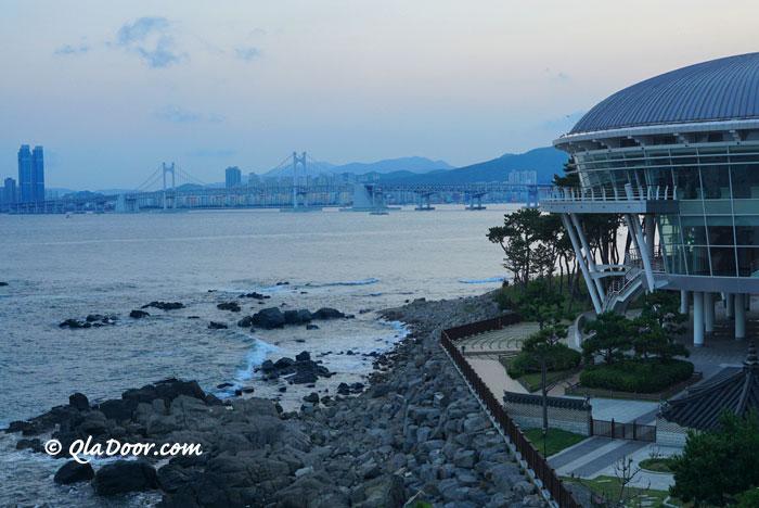 釜山ヌリマルAPECハウスから見た海の景色