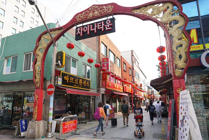 韓国・釜山のチャイナタウン(上海街)