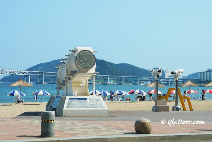 釜山観光のスポット広安里ビーチ
