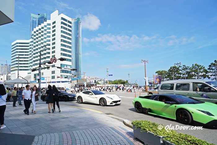 釜山海雲台の街