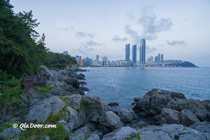 釜山観光地・海雲台海岸散歩道