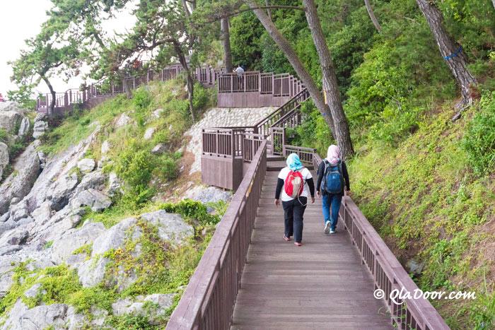 釜山・海雲台海岸散歩道