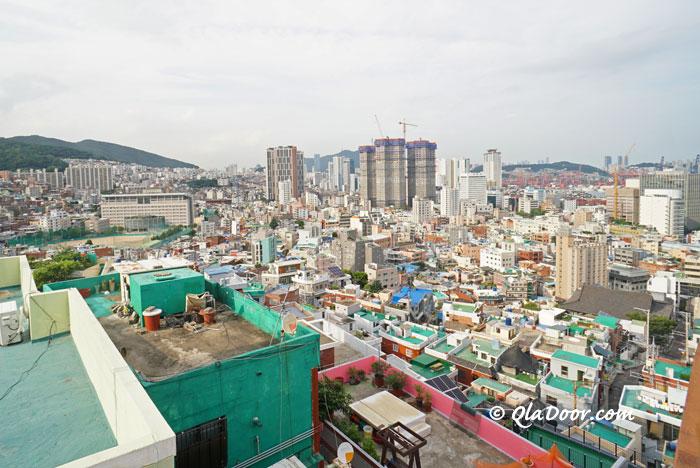 釜山草梁イバグギル展望台からの眺め