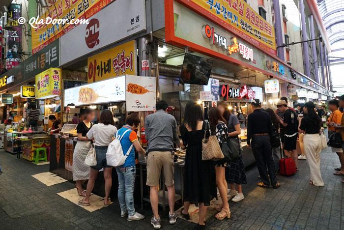 釜山カントン市場のグルメ・トッポッキ