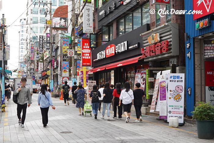 慶星大・釜慶大ショッピング通り