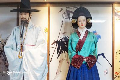釜山博物館の韓国伝統韓服体験館
