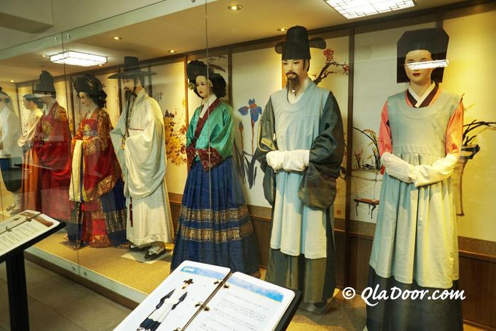 釜山博物館では韓国本格チマチョゴリ体験ができる