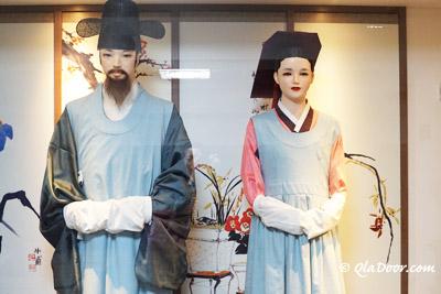 釜山博物館の韓国伝統衣装体験館