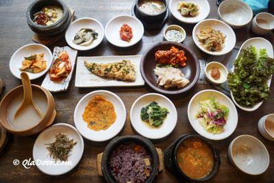 釜山西面のグルメ・韓国定食料理