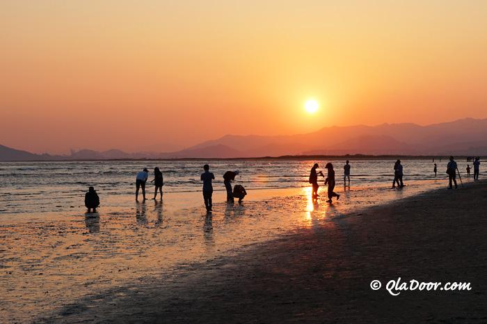 夕日がきれいな釜山多大浦ビーチ