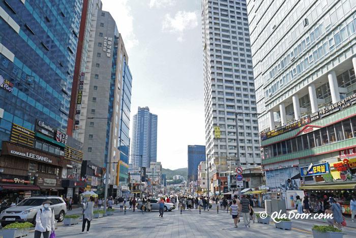 釜山若者に人気の海雲台繫華街