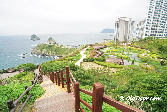 韓国・釜山の二妓台都市自然公園