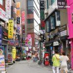 釜山観光地のスポット・若者の街西面