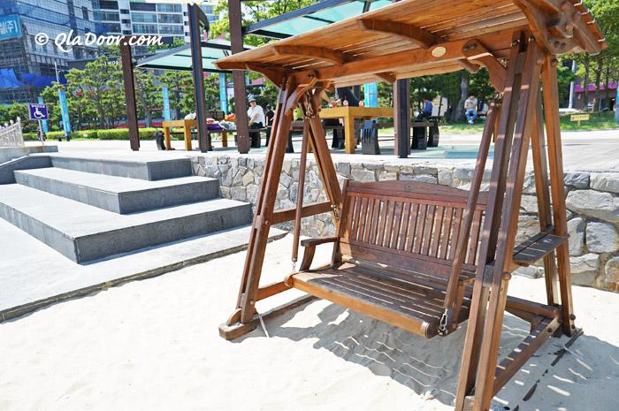 釜山松島海水浴場の椅子