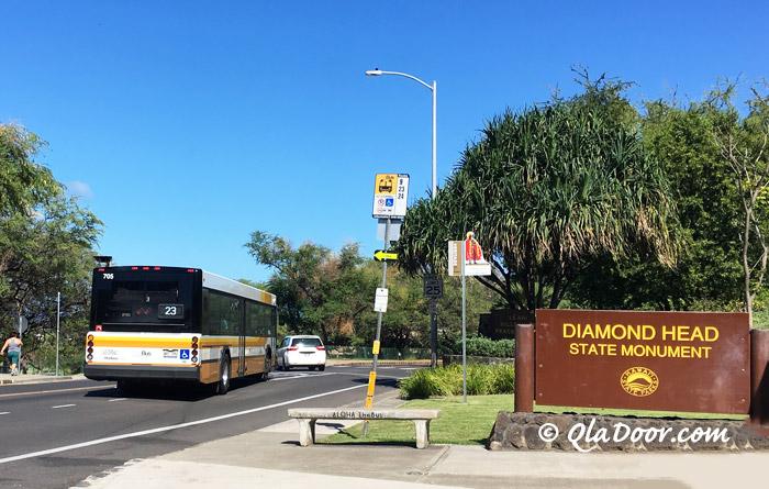 ダイアモンドヘッドのザ・バスで行き方
