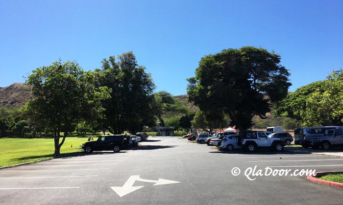 ダイアモンドヘッドの駐車場