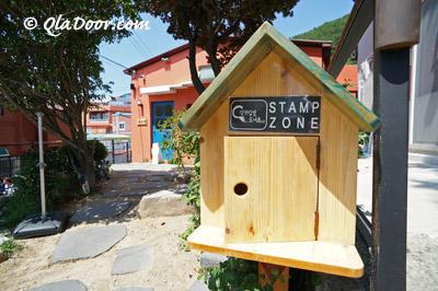 釜山甘川文化村のスタンプコナー
