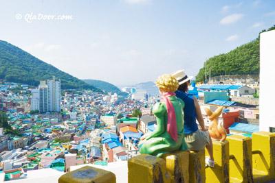 釜山甘川文化村の星の王子様