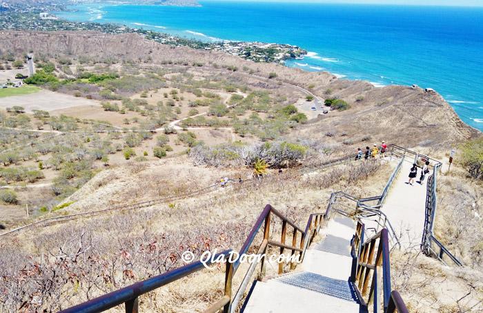 ハワイ・ダイアモンドヘッド登山の写真