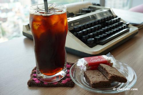 釜山・虎川村のカフェのアイスコーヒー
