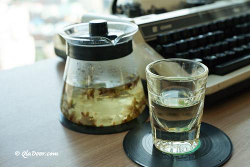 釜山・虎川村のカフェの紅茶