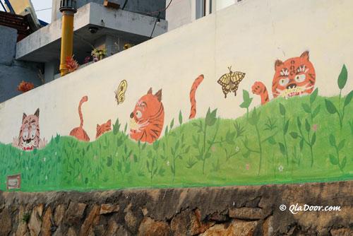 虎川村の虎の絵
