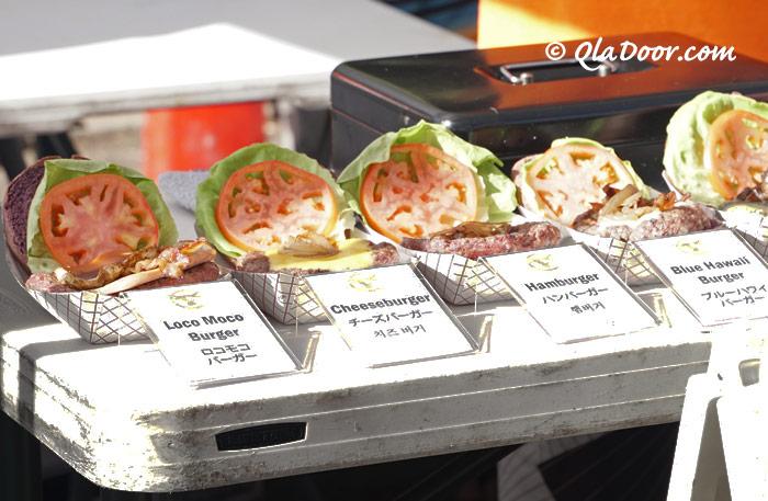 kccファーマーズマーケットのホノルルハンバーガー